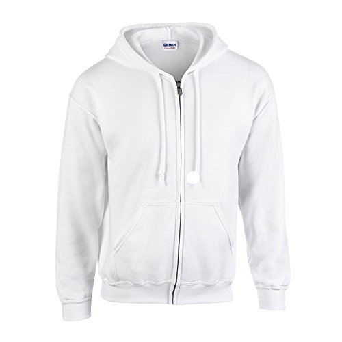 Full Zip Sweat (Gildan - Kapuzen Sweat-Jacke 'Heavyweight Full Zip' L,White)