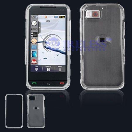 Custodia rigida snap-on Cell Phone protettiva trasparente con clip per cintura per Samsung A867Eternity [Confezione Bulk]