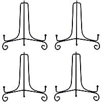 2soportes decorativos de hierro para libros de cocina, fotos, platos decorativos, tablets, de la marca Houda , negro, 7 pulgadas