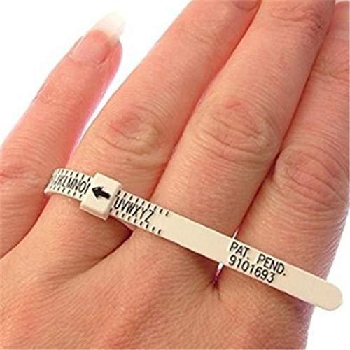 Heaviesk Messen Finger Gauge tragbare größe uk Uns Ring Sizer messen Finger Gauge für Hochzeit Ring Band echte Tester messwerkzeug (Hochzeit Band Ring-sizer)