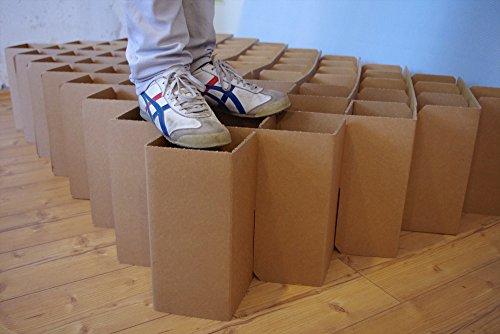 ROOM IN A BOX | Bett 2.0 S/S: Nachhaltiges Klappbett aus Wellpappe in der Größe 90 x 200 cm und alle Zwischengrößen. Ideal auch als praktisches Gästebett, da leicht verstaubar und ein Lattenrost nicht benötigt wird. - 6