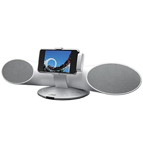 JVC XSSR4 Surround Sound Speaker System for iPod/iPod Touch - White