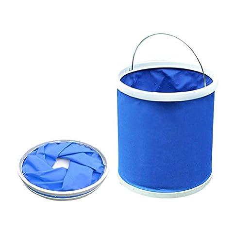 Zhuhaitf Pour les voitures Convenient Durable Auto Car (9Liter) Foldable Water Fishing Washing Beach Bucket