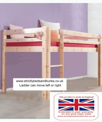 Short Cabin Bed 98cm by 175cm Midi-Sleeper Bed with for sale  Delivered anywhere in UK