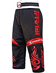 Farabi KickBoxing Trousers Pants Mix martial arts Full contact Blue Red Black Adult & kids sizes