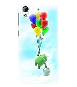 Printvisa Premium Back Cover Cartoon Hanging On Multicoloured Baloons Design For HTC Desire 626::HTC Desire 626G Plus::HTC Desire 626G+