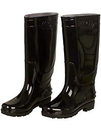 f1e2c52c36d1ce CCZZ Herren Langschaft Gummistiefel Regenstiefel Gartenarbeit Mode Outdoor  Rain Boots Sport Retail Arbeitsgummistiefel Schwarz…