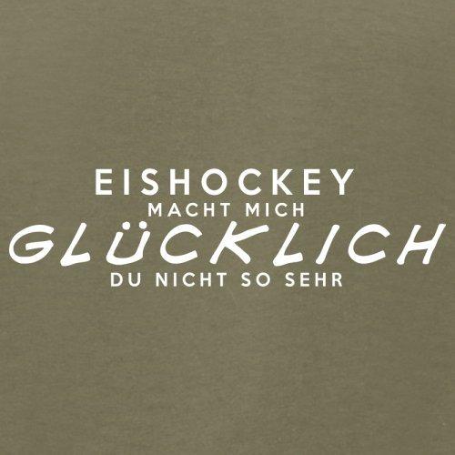 Eishockey macht mich glücklich - Herren T-Shirt - 13 Farben Khaki