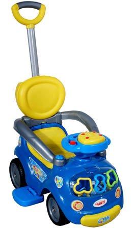 Correpasillos y andados para bebes - Portador con funcion empuja -Tire del juguete - Coche para bebe - Coches para ninos - Baby car ARTI Walker 17-2 Dark Blue columpio + desmontable manejar