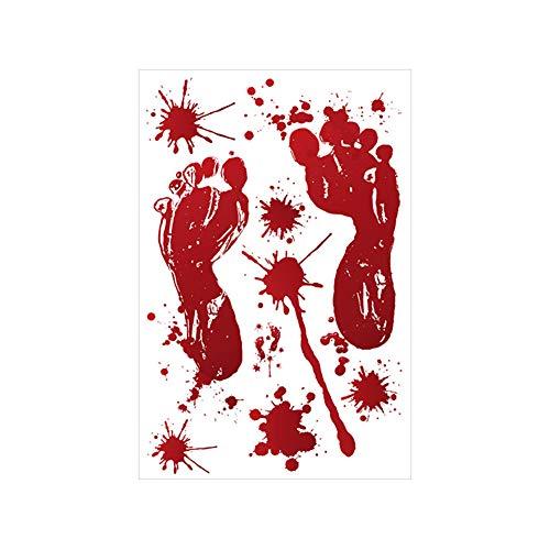 (ddellk Blut-Handabdruck-Wand-Aufkleber, entfernbare Halloween-Terror-Wand, die für Schlafzimmer-Wohnzimmer dekorativ ist)