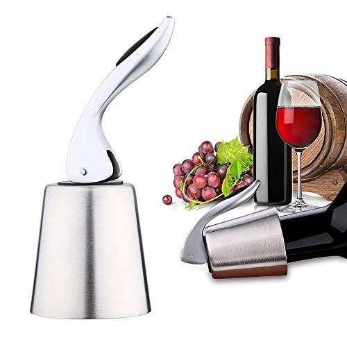 Hoomall Sektflaschenverschluss Edelstahl Weinflaschenverschluss Vakuum Flaschenverschluss mit Innengummi für Weine, Food Grade Flasche Stopper