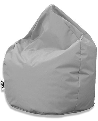 Sitzsack Tropfenform für In & Outdoor | XXL 420 Liter - Grau - in 25 versch. Farben und 3 Größen