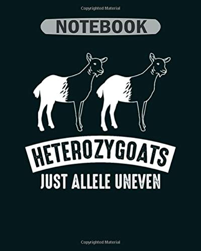 Notebook: genetic goat  heterozygoats just allele uneven1 - 50 sheets, 100 pages - 8 x 10 inches