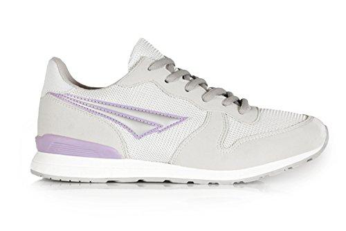 Scarpe da ginnastica casual da donna stile retrò, con lacci, colore nero/navy/grigio Silver