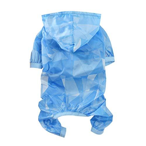 YWLINK Haustier Hund Katze Overall Sommer UV-Schutz Kleidung DüNn Und Leicht Süß Kleid(Blau,XS)