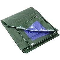 Labor 0300151 Lona de Polietileno reforzada con ojales, verde, 3x4 m