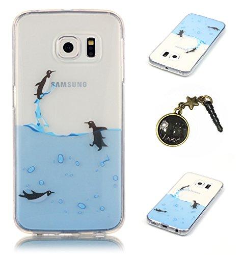 Preisvergleich Produktbild TPU Silikon Schutzhülle Handyhülle Painted pc case cover hülle Handy-Fall-Haut Shell Abdeckungen für Smartphone (Samsung Galaxy S6 Edge) +Staubstecker (1GG)
