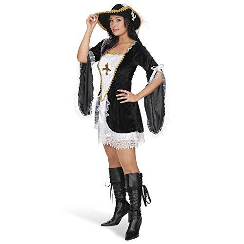 Musketier Kleid 1-tlg. Kostüm für Damen - Drei Musketiere Kostüm Frauen