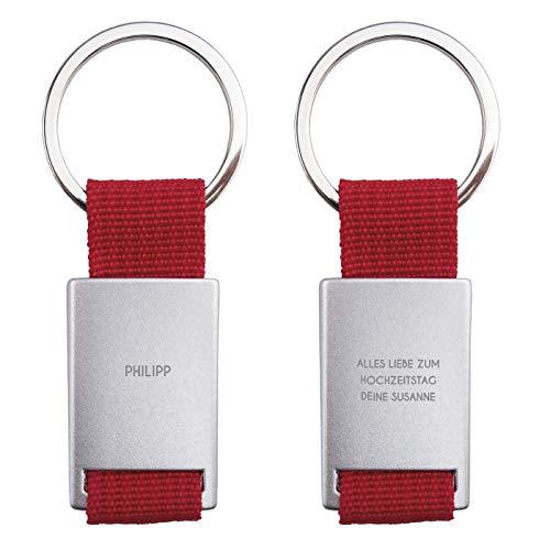 Geschenke.de Personalisierter Schlüsselanhänger mit Gravur klassisch -