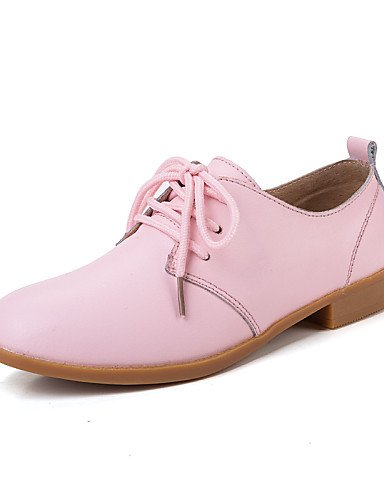 ZQ 2016 Scarpe Donna - Stringate - Tempo libero / Formale / Casual - Comoda - Piatto - Pelle - Marrone / Rosa / Bianco / Beige / Blu scuro , brown-us8.5 / eu39 / uk6.5 / cn40 , brown-us8.5 / eu39 / uk navy-us8.5 / eu39 / uk6.5 / cn40