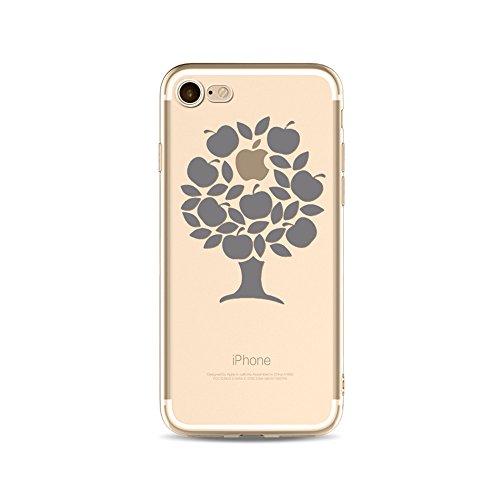 CrazyLemon Kreativ Hülle für iPhone 7 iPhone 8, Dünn Transparent Weich Silikon Case Klar Niedlich Muster Leicht Dünn Handyhülle Kratzfest Schutzhülle für iPhone 7 iPhone 8 4,7