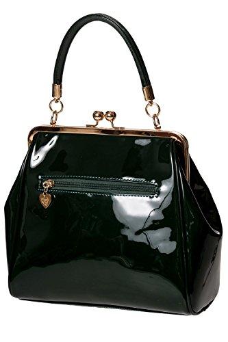 Banned Apparel American Vintage 50s Rockabilly glänzend handtasche Grün