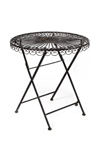 gartentisch luni dunkelbraun antik rund eisentisch tisch aus eisen landhaus. Black Bedroom Furniture Sets. Home Design Ideas
