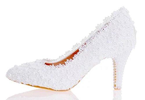 TDA , Semelle compensée femme 8cm Heel White