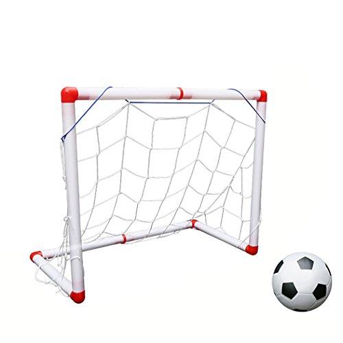 all Tor Fußball Ball Einstellen Mini Draussen Innen Fußball Netz Spielzeug mit Luft Pumpe ()