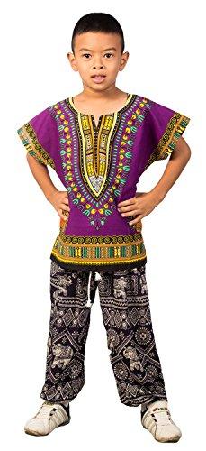 lofbaz-chemise-enfants-africaine-traditionnelle-dashiki-violet-taille-unique