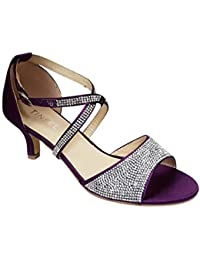 9d4d81f26c5 Amazon.co.uk: Kitten Heel - Purple / Sandals / Women's Shoes: Shoes ...