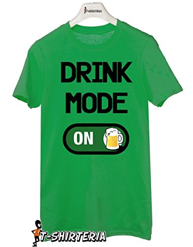 "t-shirt humor San Patrick's day ""Drink mode ON"" drink beer - tutte le taglie uomo donna maglietta by tshirteria verde"