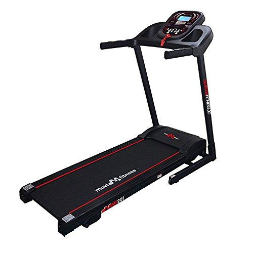 Movi Fitness MF201, Tapis Roulant Unisex – Adulto, Nero/Rosso, 161 x 70 x 128 cm