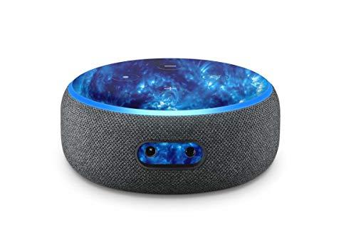 Skins4u Aufkleber Design Schutzfolie Sticker kompatibel mit Amazon Echo Dot 3.Generation Blue Giant