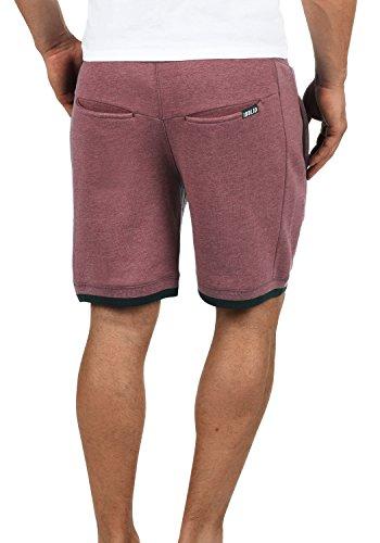 SOLID BenjaminShorts Herren Sweatshorts kurze Hose Sport-Shorts aus hochwertiger Baumwollmischung Wine Red Melange (8985)