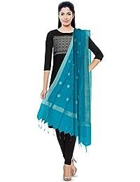 BL TEXTILES Banarasi Silk Cotton Dupatta (Sea Green)