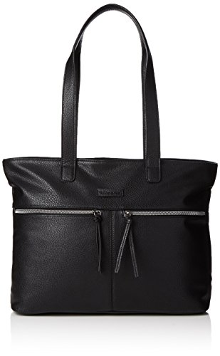 Tamaris Damen GLAM Business Shopping Bag Shopper, Schwarz (Black 001), 37x30x13 cm