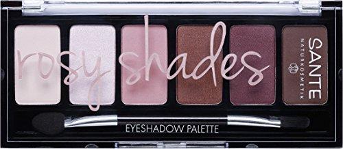 Sante Cosmetici naturali Eyeshadow Palette Ombretto palette, 6colori, Bio di estratti, natural Make Up (6G)