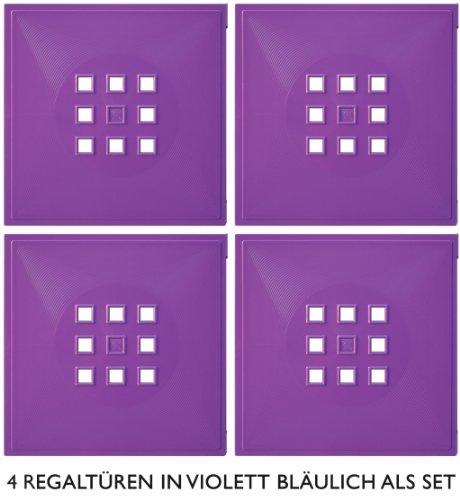 4er Set Designer Regaltür als Facheinsatz ca. 33,6cm x 33,6cm für IkeaRegal expedit * Violett-bläulich
