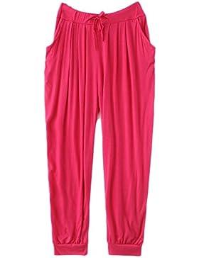 GladiolusA Mujer Pantalones De Yoga Pantalones Deportivos Baggy Palazzo Harem Pantalón Polainas para Danza