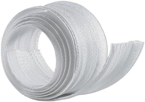 dream audio Kabelschlauch Textil: Flexibler weißer 1,8m Kabelschlauch mit praktischem Klettverschluss (Kabelschlauch Stoff)