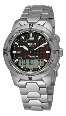 Tissot T-TOUCH T0474204420700 - Reloj de caballero automático, correa de piel color negro