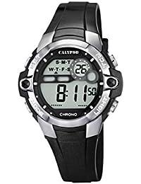 Calypso watches - K5617/6 - Montre Garçon - Quartz Digital - Alarme/Chronomètre/Eclairage - Bracelet Plastique Noir