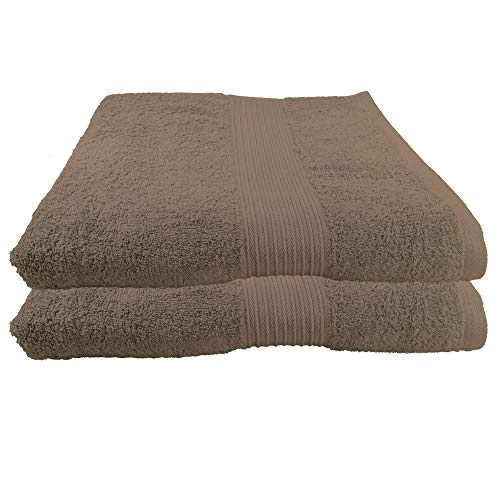 Julie Julsen 2er Pack Saunatücher 28 Farben erhältlich Reine Baumwolle Qualität 500 GSM Strandtuch Walnuss 80 x 200 cm B-Ware - Qualität Walnuss