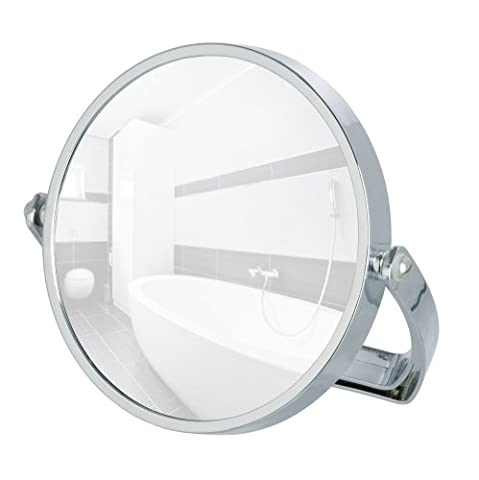 Wenko 3656511100 Noale Miroir Grossissant Chromé 20 x 2,5 x 21,5 cm