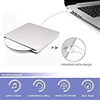 External USB Drive for DVD/CD/RW Drive And Burner with USB Port for Apple Macbook Pro, Macbook Air, Imac PC Mac OS