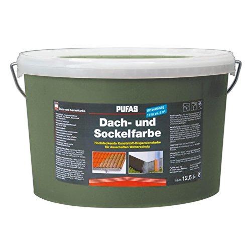 PUFAS Dach- und Sockelfarbe betongrau 12,5 Liter