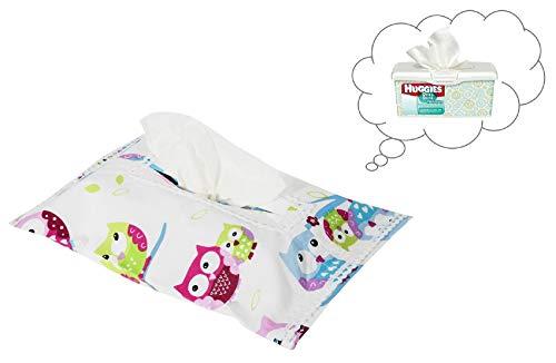 Vizaro - HÜLLE für Baby Feuchttücherbox/Pflegetücher/Mäpchen - der Handtücherschachtel - 100% REINE BAUMWOLE - Made in EU - ÖkoTex - SICHERES PRODUKT - K. Eulen