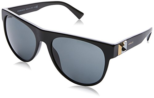Versace 0ve4346 gb1/87 57, occhiali da sole uomo, nero (black/grey)