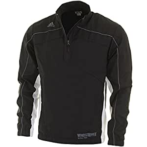 2014 Adidas ClimaProof Mens WindStopper GORE-TEX Half Zip Golf Jacket Black/White Medium